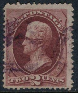 US #146 purple cancel  CV $21.25