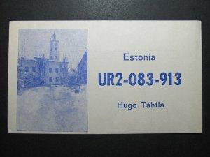 5715 Amateur Radio QSL Card Viljandi Estonia