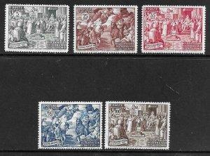 1951   VATICAN CITY  -  SG. 168 / 172 - COUNCIL OF CHALCEDON ANNIVERSARY - MNH