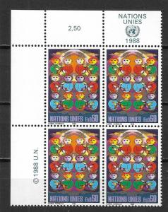 UN Geneva 164 For a Better World MI block of 4 MNH