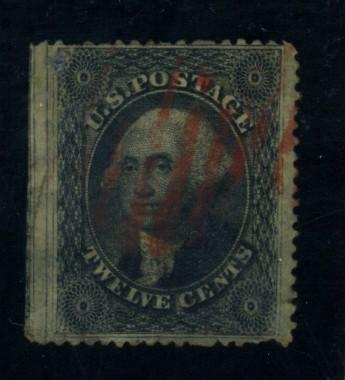 36B Used F-VF Red cancel Creases Cat$315