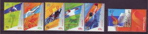J24229 JLstamps 2000 australia set mnh #1847-51 sports
