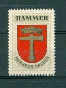 Denmark. Poster Stamp 1940/42. District  Hammer.  Coats Of Arms. Crown