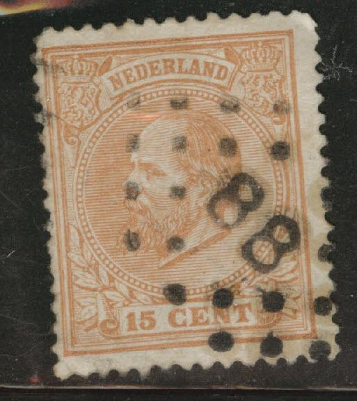 Netherlands Scott 27 used from 1872-1888 set