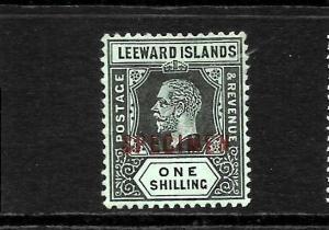 LEEWARD ISLANDS 1912-22   1/-     KGV     MLH  SPECIMEN  SG 54bs