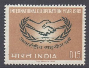 India Scott 403 - SG502, 1965 Co-operation Year 15np MH*