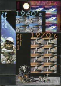 ASCENSION ISLAND 50th  ANNIVERSARY OF NASA  SCOTT #941/46 SHEET  SET MINT NH