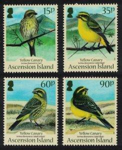 Ascension Yellow Canary Bird 'Serinus flaviventris' 4v 2010 MNH SG#1082-1085