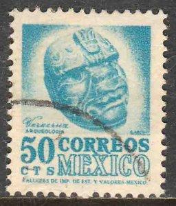 MEXICO 881, 50¢ 1950 Definitive 2nd Printing wmk 300. USED. F-VF. (1408)