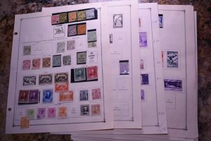MONACO OLD STRONG COLLECTION ON ALBUM PAGES  z130 SUPERIORSTAMPS