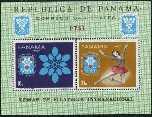 Panama 484F-484G,MNH.Mi Bl.87-88. Olympics Grenoble-1968.Figure skating,Biathlon