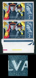 Spec W61b 1965 3d Salvation Army with Variety Retouch to V U/M