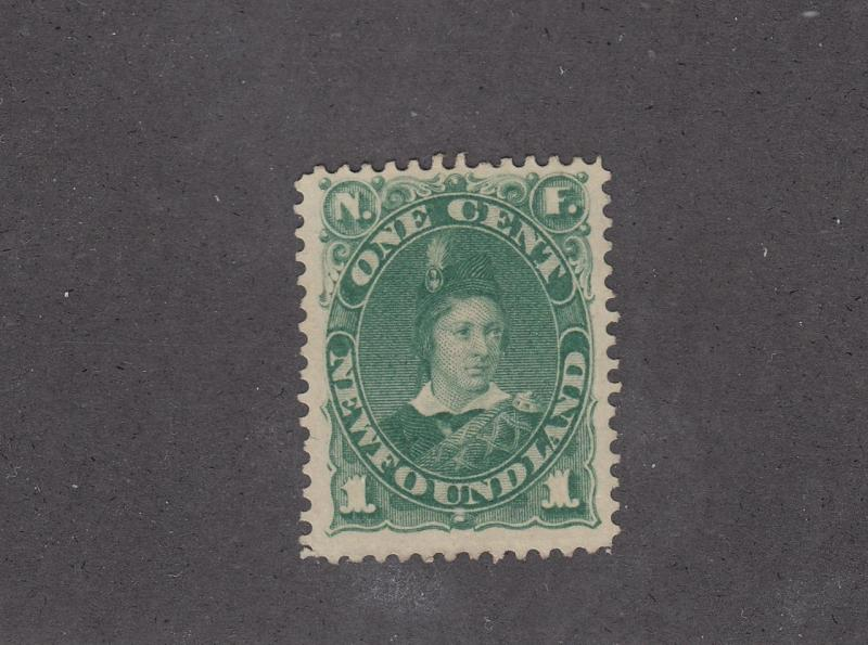 NEWFOUNDLAND # 44 VF-MNG UNUSED 1ct PRINCE OF WALES CAT VALUE $40