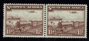 South West Africa SG# 97, Pair, Mint Hinged, Minor Top Separation  -  Lot 010216