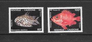 FISH - NEW CALEDONIA #652-3  MNH