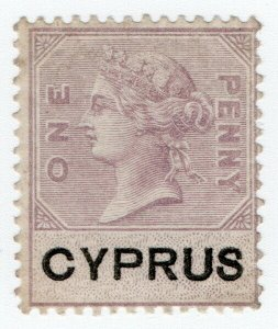 (I.B) Cyprus Revenue : Duty Stamp 1d (inverted watermark)
