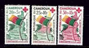Cameroun B30-32 MNH 1961 Maps and Flags
