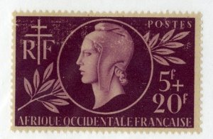 FRENCH WEST AFRICA B1 MH SCV $6.75 BIN $2.75 PORTRAIT