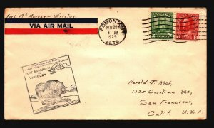 Canada 1929 FFC Ft McMurray to Windsor - Z17439