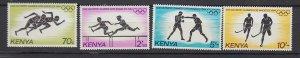 J25741 1984 kenya set mnh #297-300 sports