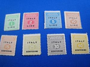 ITALY - SCOTT #1N1//1N9 - MNH