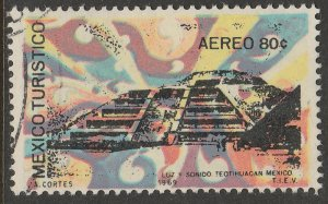 MEXICO C354, TOURISM PROMOTION, TEOTIHUACAN PYRAMID. USED VF. (1256)