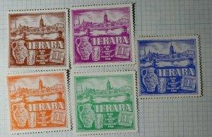 IFRABA Exhibition Frankfurt Germany 1953 Philatelic Souvenir Ad Label