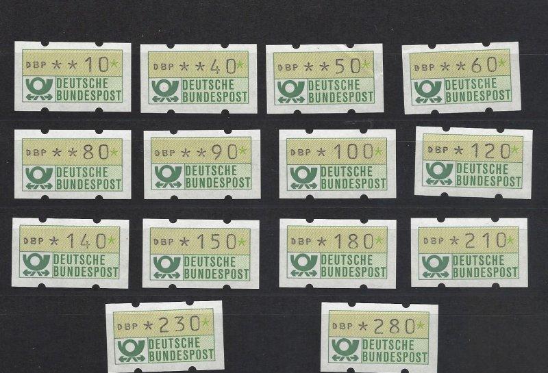 BRD Automatenmarken 1981 Original Set MNH