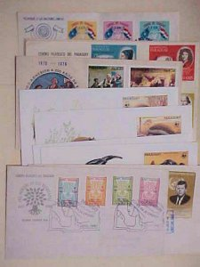 PARAGUAY  14 DIFF FDC 1959-1985 CACHET UNADDRESSED