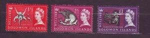 J23739 JLstamps 1965 solomos islands part of set better mh #137-8,142 queen