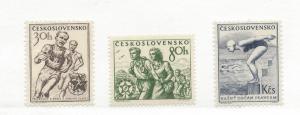 Czechoslovakia, 642-44, Various Sports Singles,  MNH