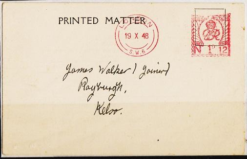 Great Britain. Cover. 1948 1d Machine Cancel. Fine Used