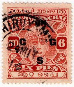 (I.B) India Revenue : Cochin Anchal Duty 6p (on CGS overprint)