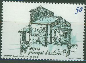 ANDORRA SPANISH 1989 MNH SC.202 Sant Romá de les Bons Church