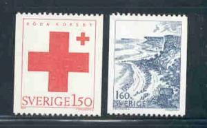 Sweden Sc 1466-7 1983 Red Cross stamp set mint NH