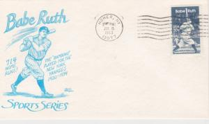 1983 BABE RUTH, 552 BAZAAR - First Day HOMER, NY Cover - Unaddressed