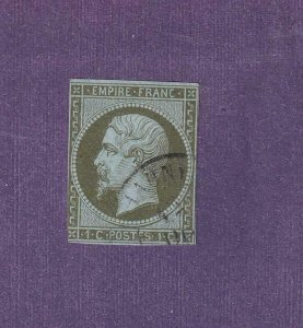 FRANCE # 12 IMPERF LIGHT USED CAT VALUE $70+