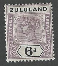 Zululand mh  sc # 19
