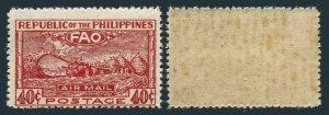 Philippines C67,MNH toned gum.Mi 486. Conference of FAO,Bagio,1948.Threshing.