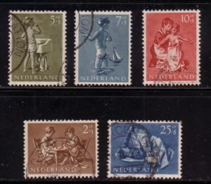 Netherlands Sc B271-5 1954 Child Welfare stamps used