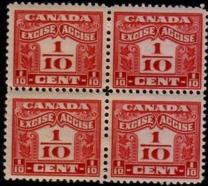 CANADA 1915 Excise stamp MNH block of 4 ...................................48249