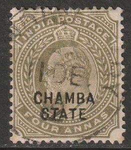 India Chamba 1904 Sc 25 used large thin