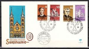 Suriname, Scott cat. 333-336. Mission Centenary issue. First day cover.