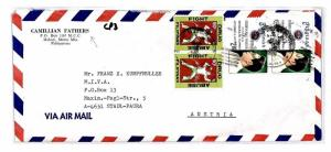 CP3 Philippines Camillian Fathers Air Mail Cover