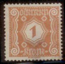 Austria 1922 SC# J103 Used