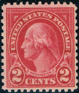 #634A 1928 2 CENT TYPE II ROTARY ISSUE MINT-OG/NH
