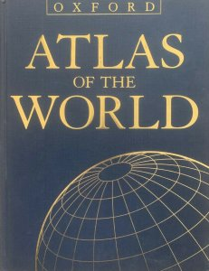 Oxford Atlas of the World, 2003 Edition, full color, excellent town names index