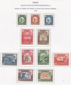 ADEN SHIHR 1-11 MINT HINGED