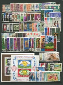 STAMP STATION PERTH St Helena # Selection of 29 Sets 87 Stamps 1956 to 1977MNH