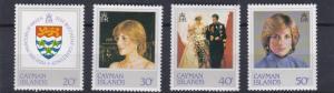 CAYMAN ISLANDS   1982  21ST BIRTHDAY  SET  MNH